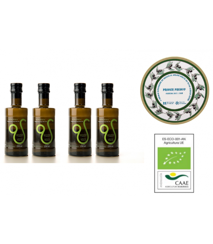 Pack 4x250 ml Picual GOURMET ECOLOGICO VIRGEN EXTRA